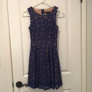 Classy teen blue lace dress